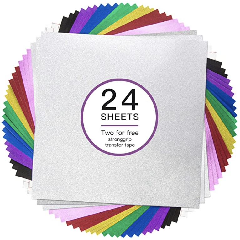 Rizee Glitter Removable Vinyl Sheets For Cricut Render Cropped