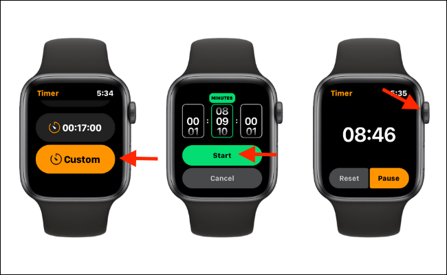 Set A Custom Timer on Apple Watch