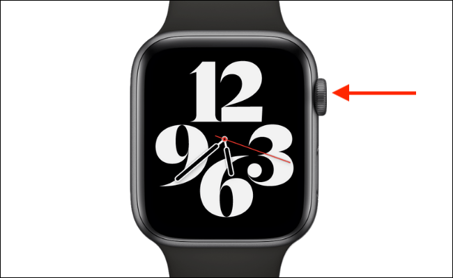 Press Digital Crown on Apple Watch