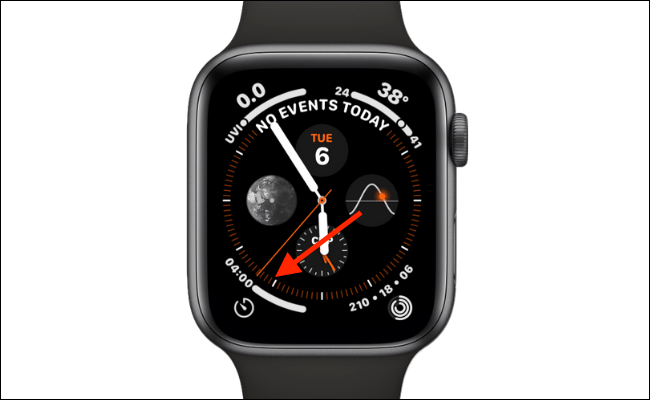 Timer App Complication in Default Infograph Layout