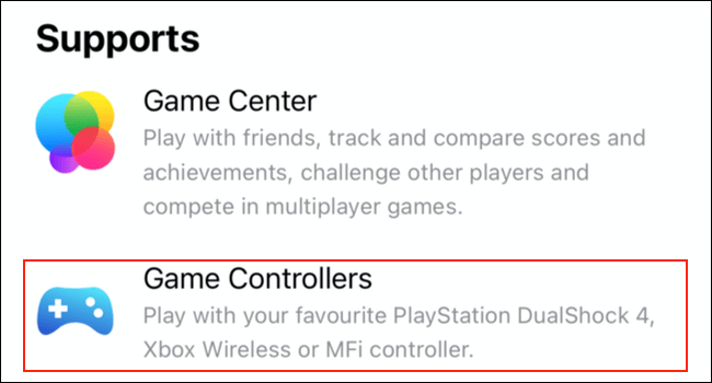 Game controller support listed for Apple Arcade games on the App Store