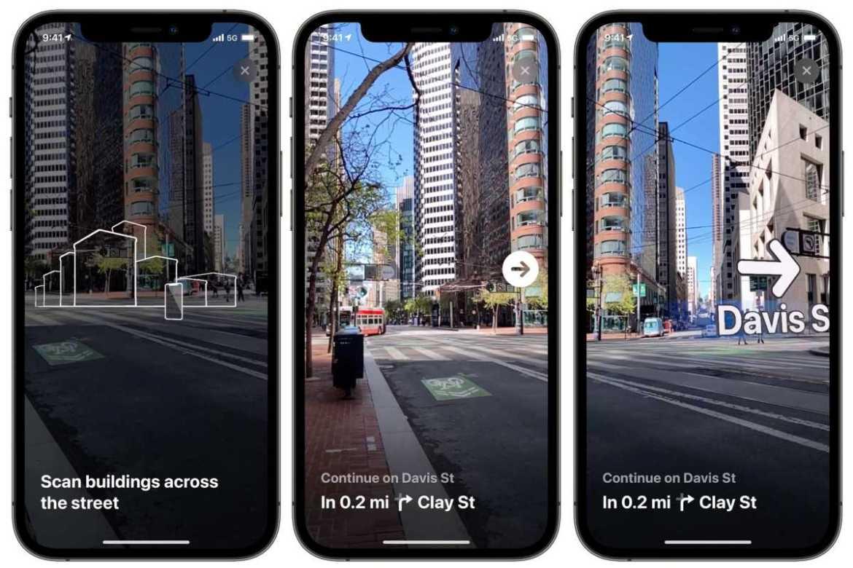iOS 15 walking directions