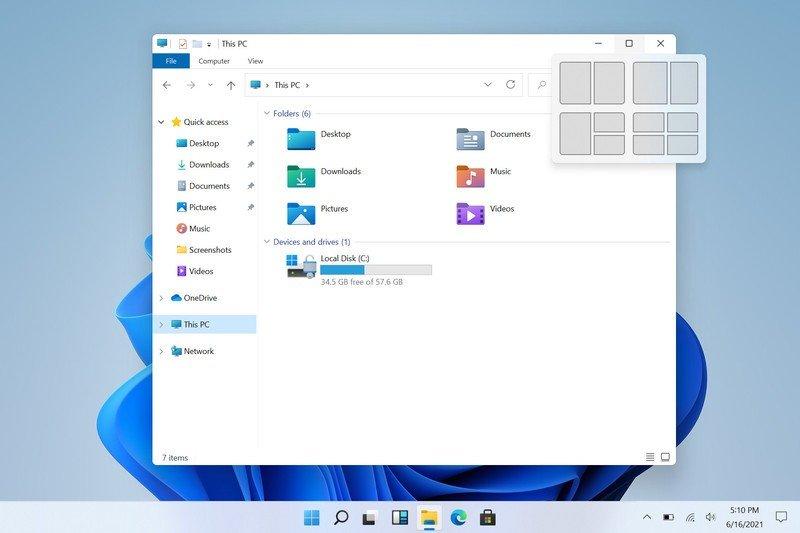 Windows 11 Snap Menu Screenshot