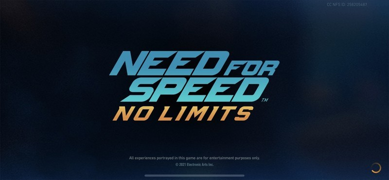 Need For Speed No Limits Title Screen