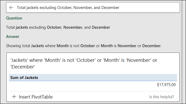 Analyze Data Question and Answer