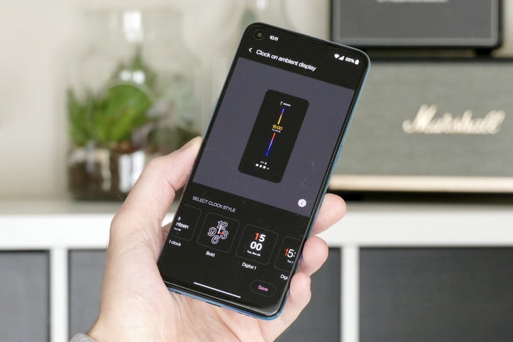 Always On Screen of the OnePlus Nord CE 5G