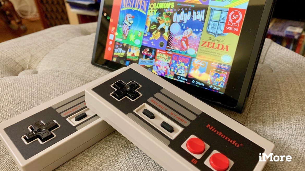 Nintendo Switch NES NSO with NES controllers