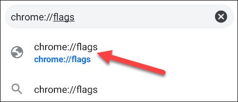 Go the the Chrome Flags page.