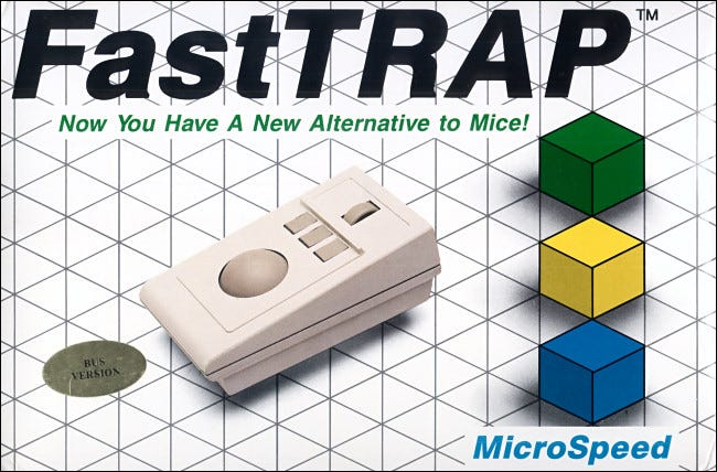 The 1987 FastTRAP trackball included a wheel for z-axis control.