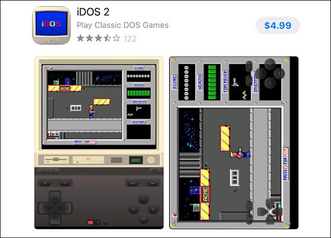 The iDOS 2 entry in the Apple App Store.