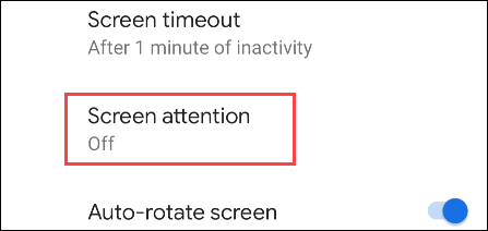 select screen attention