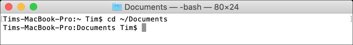 cd macOS Terminal Command