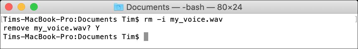 rm macOS Terminal Command