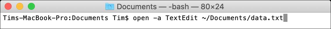 open macOS Terminal Command