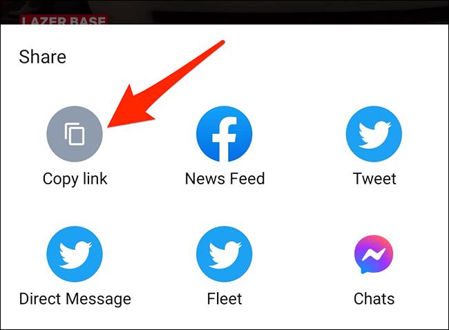 """Tap """"Copy Link"""" in a phone's share menu."""