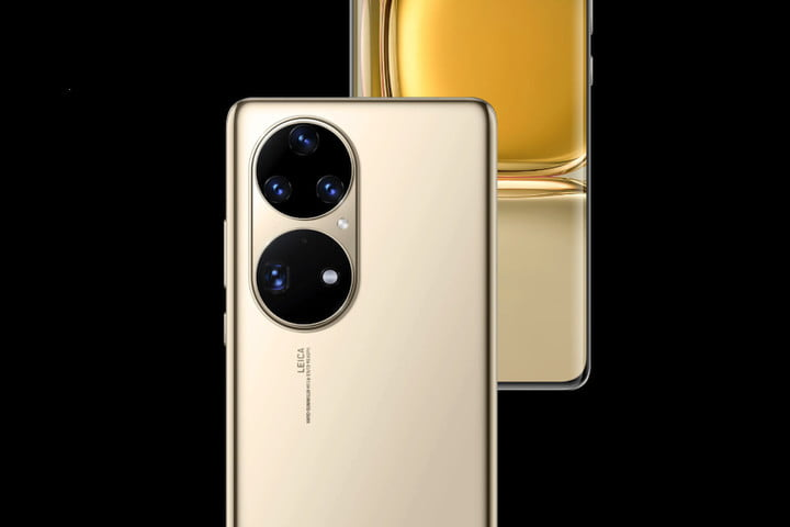 Huawei P50 Pro from the back and front.