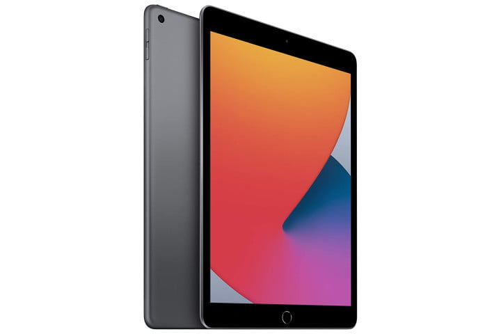 Picture shows Apple iPad 8th Generation in Space Gray
