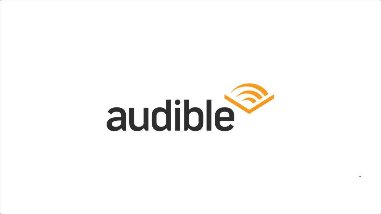 Audible logo on a white background.