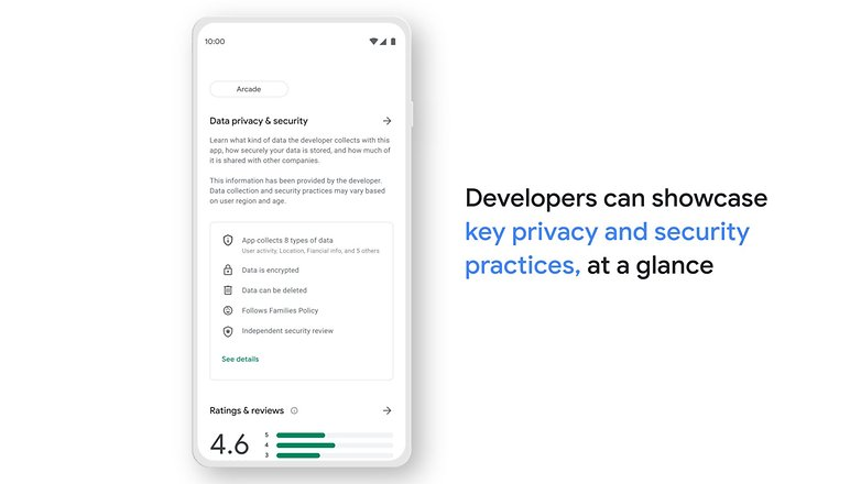 Google play store safety section 1