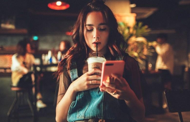 Woman receiving phone call