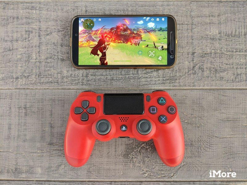 PS4 controller with phone