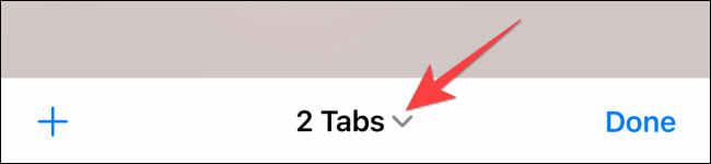 """Tap the drop-down next to the """"Tab Groups"""" button."""