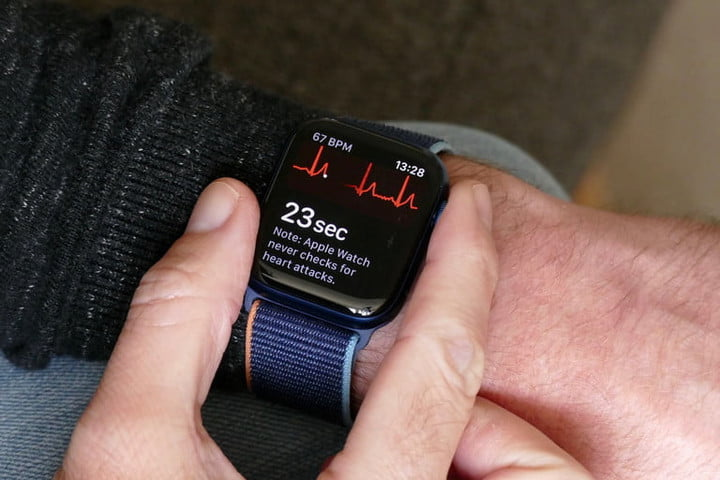 Apple Watch 6 fitness monitor.