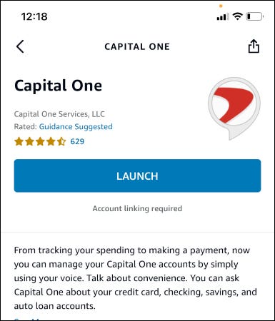 capital one launch page