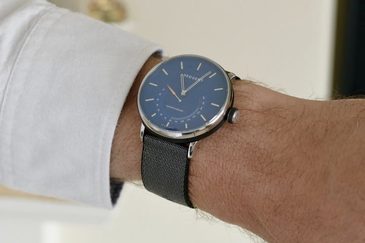 Sequent SuperCharger watch on a wrist.