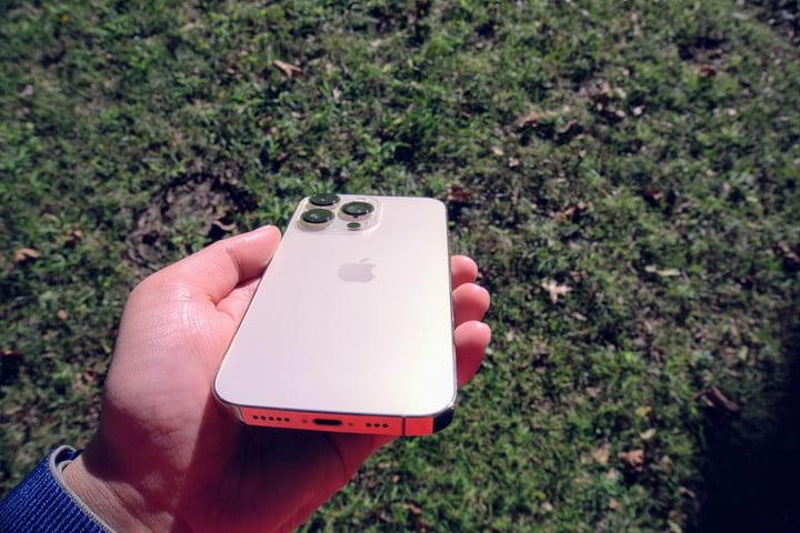 iPhone 13 Pro Lightning port.