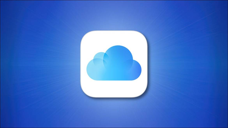 Apple iCloud Logo on blue background