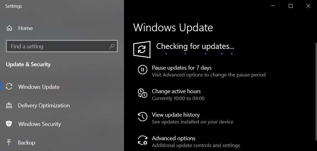 October 2021 Windows 10 Update