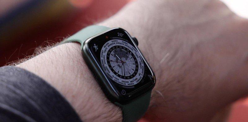 Apple Watch Series 7 World Clock Face