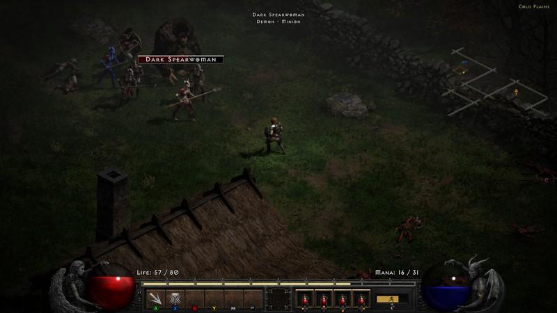 Diablo 2 Resurrected Assassin Combat