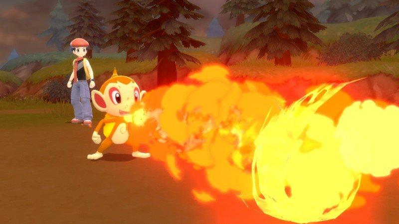 Pokemon Brilliant Diamond Shining Pearl Chimchar Fire