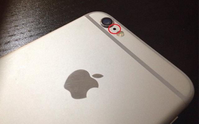 hole behind an iphone