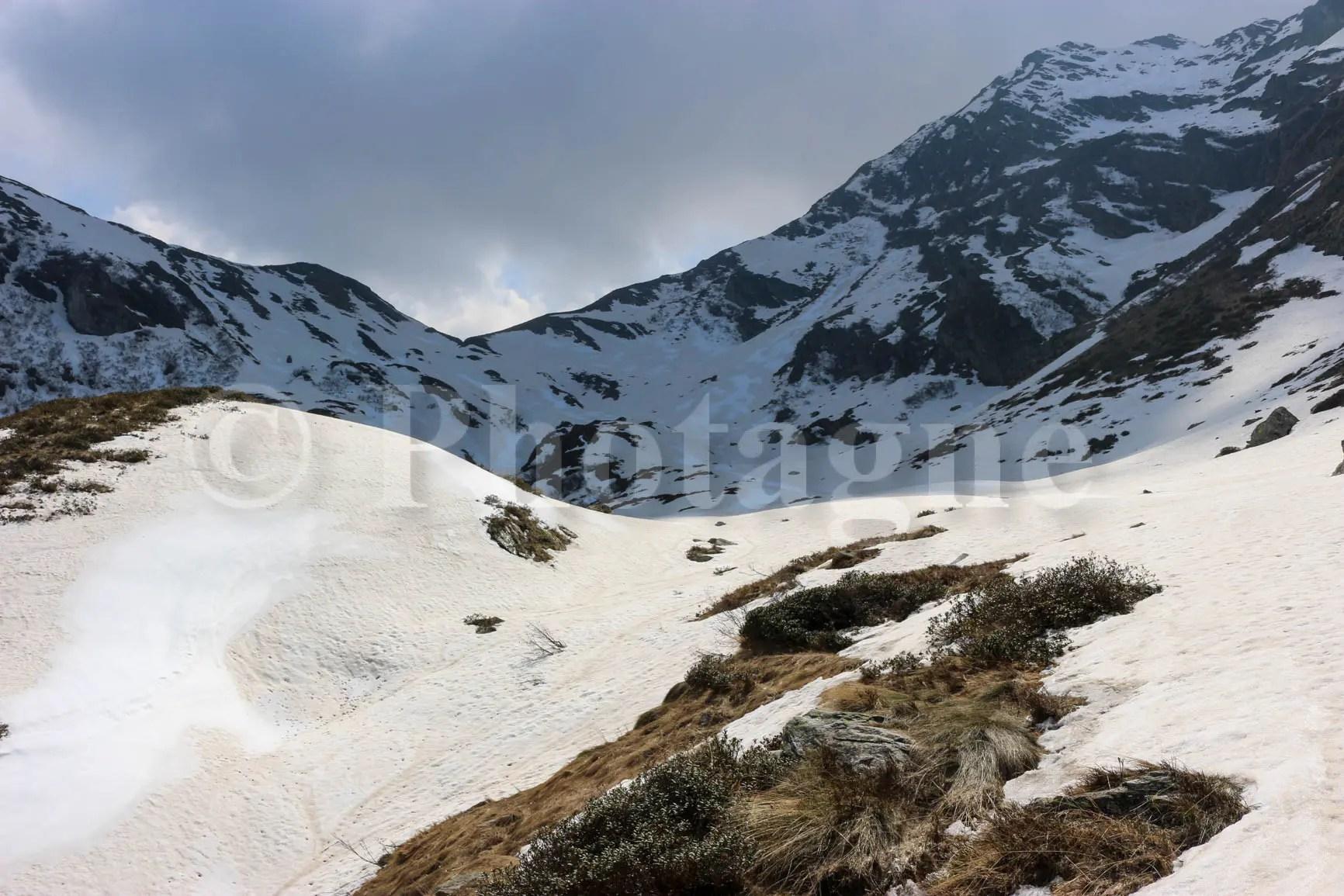 Un peu trop de neige pour continuer à la Punta dell'Usciolo