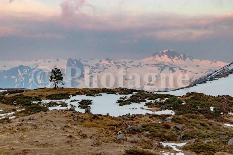 Le plateau d'Ourdinse, derrière le pic de Chebretou