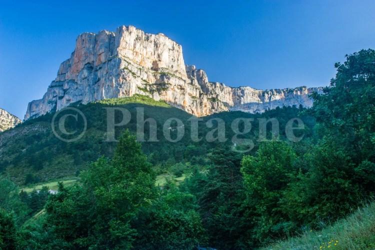 Les falaises d'Archiane le matin