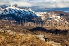 Monte Matanna le soir, entre le Prana et le Piglione