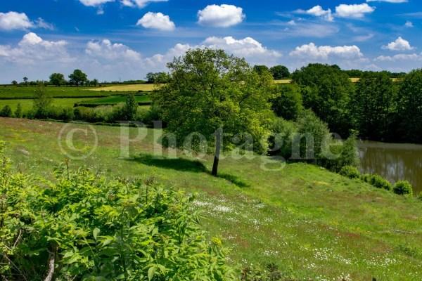 Un paysage verdoyant typique du Morvan