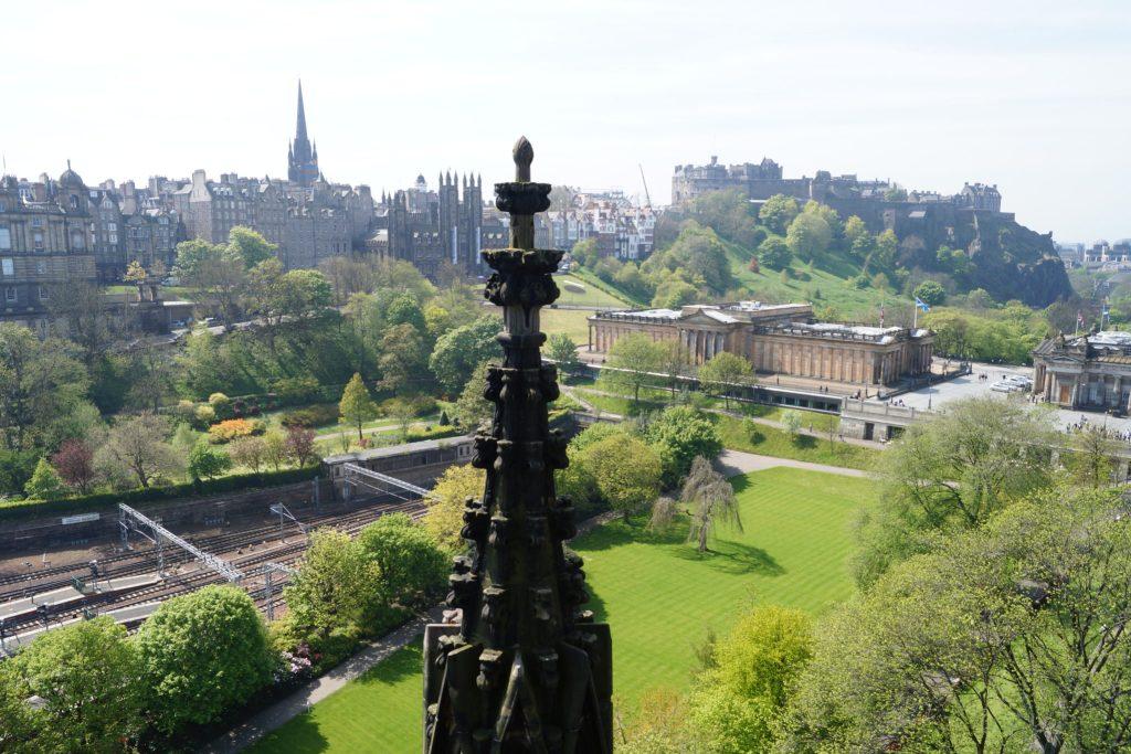 View of Edinburgh Castle from Scott Monument