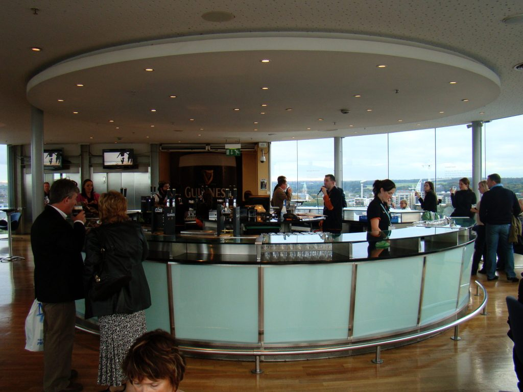 Interior view of the Gravity Bar at Guinness Brewery