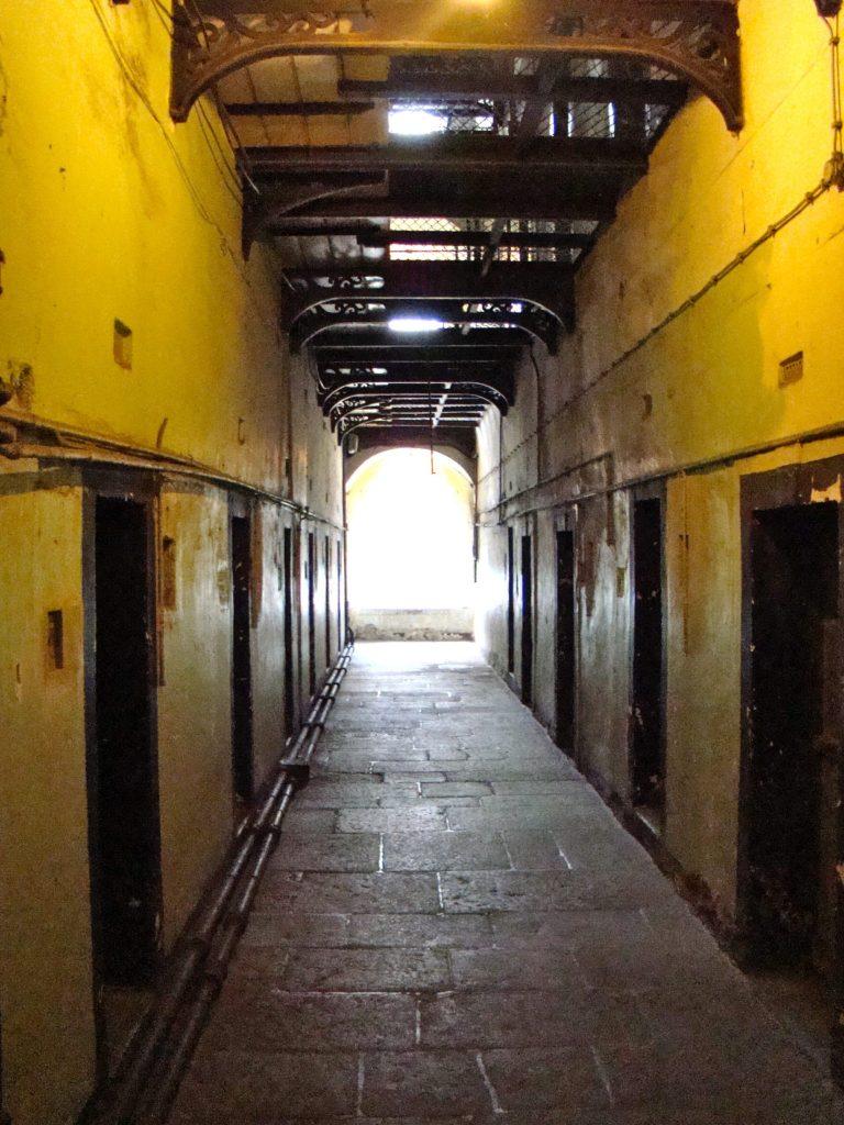 Prison hallways in Kilmainham Gaol