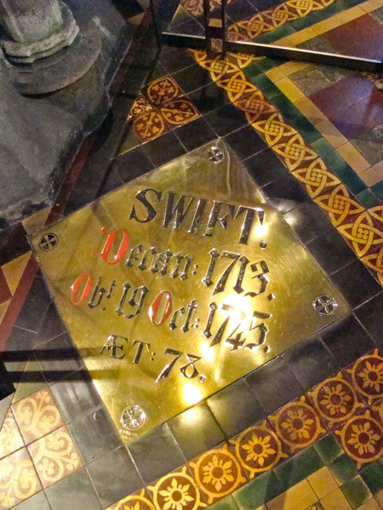 Burial Marker for Jonathan Swift at Saint Patrick's Cathedral