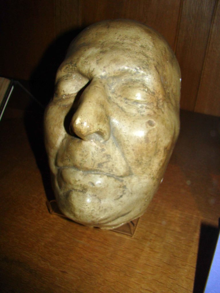 Death Mask of Jonathan Swift at Saint Patrick's Cathedral Dublin