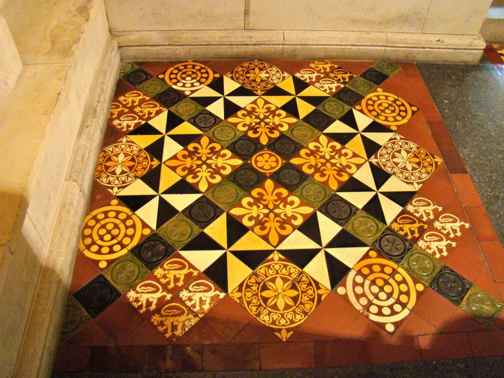 Floor design at Christ Church Cathedral