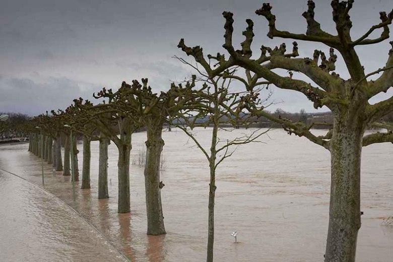 La Garonne est sortie de son lit à Agen et a envahi la voie sur berge ©photo Patrick Clermont