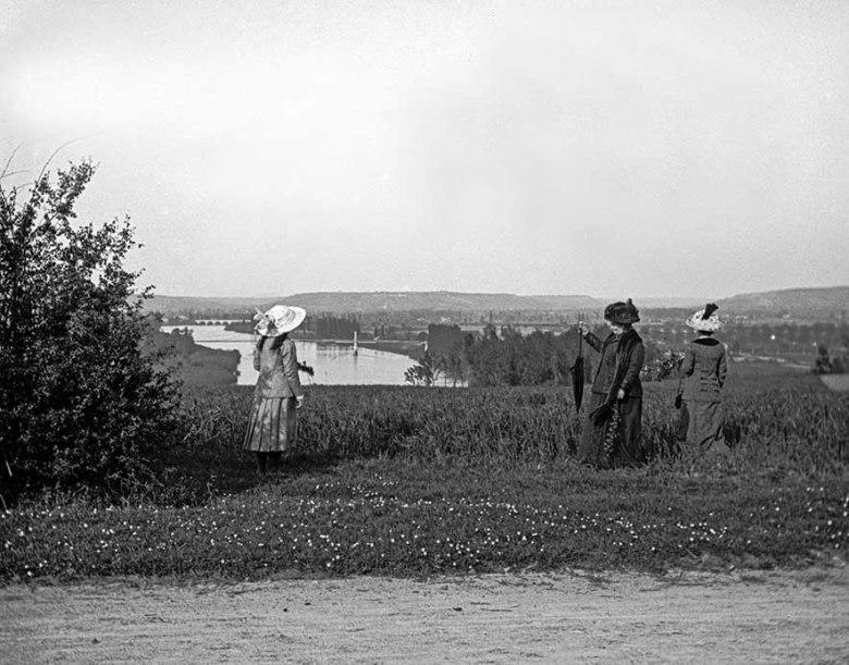 Vue générale de la Garonne en 1913©photo archive Patrick Clermont