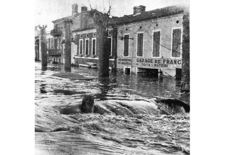 Crue du 3 février 1952 ©photo archive Patrick Clermont